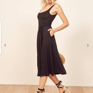 Reformation 'August' Fit and Flare Midi Dress